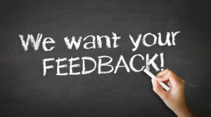 Feedback helps you to improve customer service